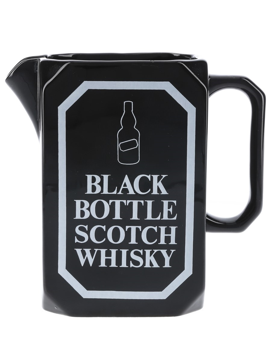 Black Bottle Water Jug Wade PDM 14cm Tall