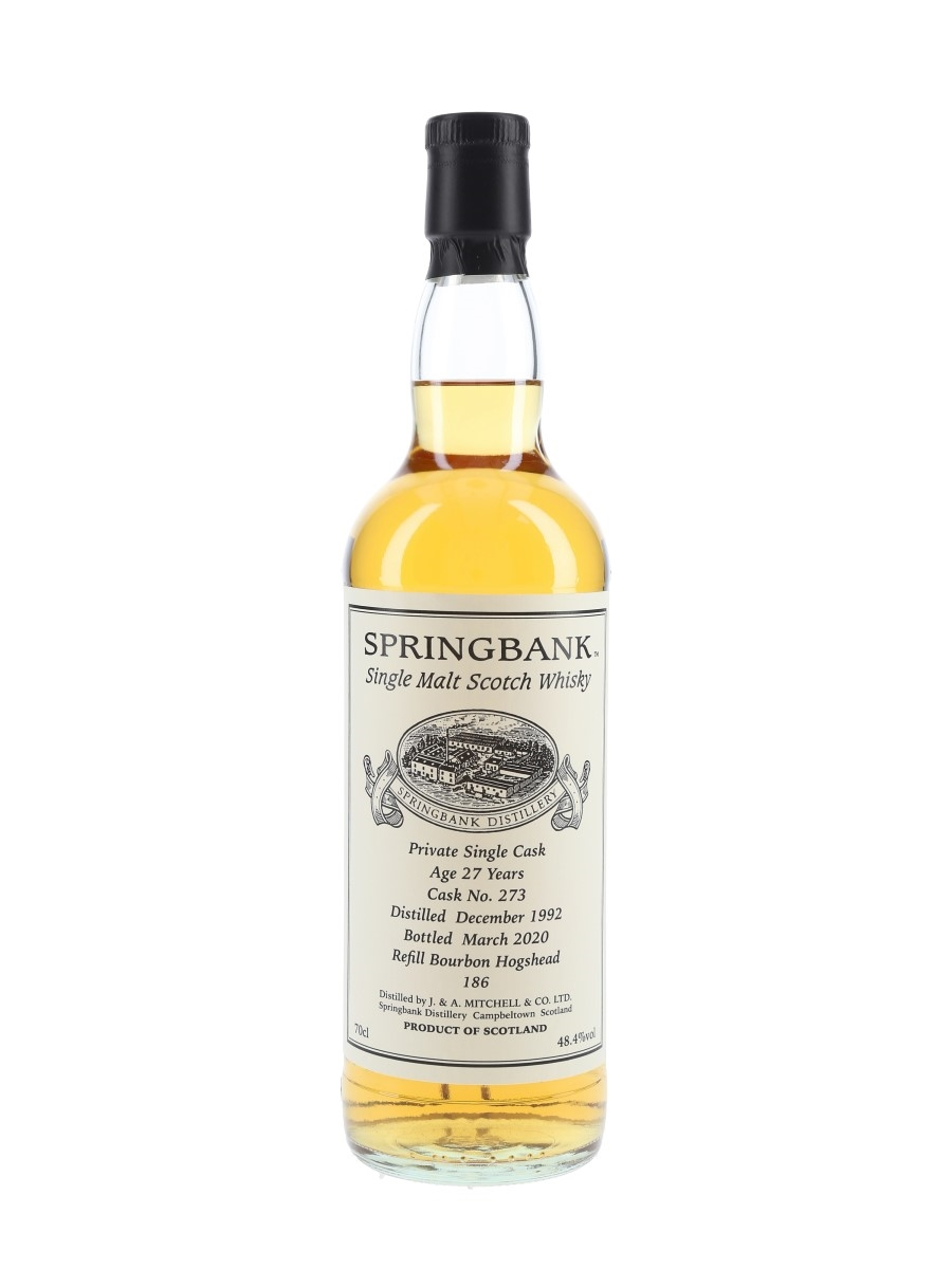 Springbank 1992 27 Year Old Private Single Cask 273 Bottled 2020 70cl / 48.4%