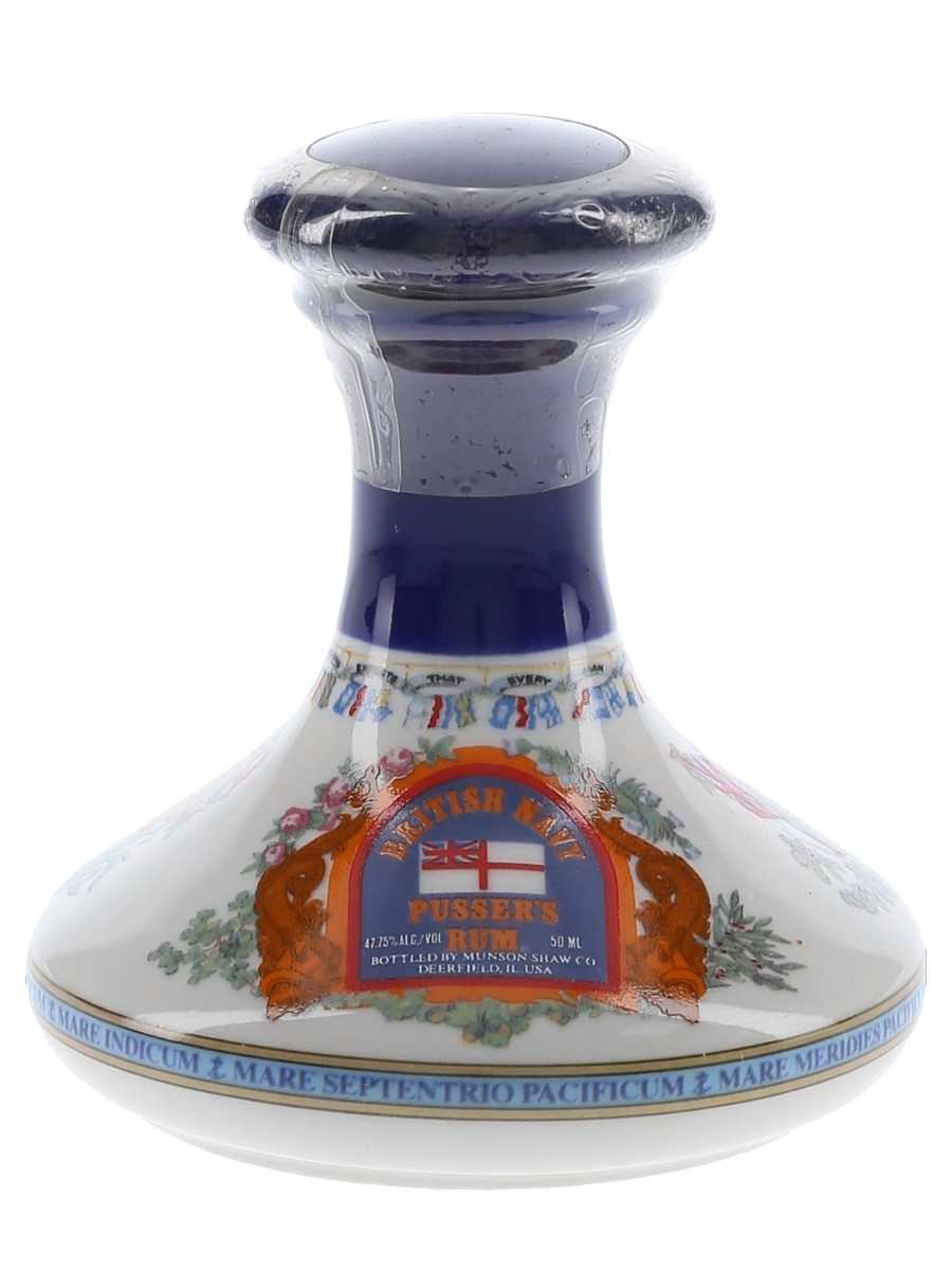 Pusser's British Navy Rum Nelson Ships' Decanter - Wade Ceramic Miniature 5cl / 47.75%