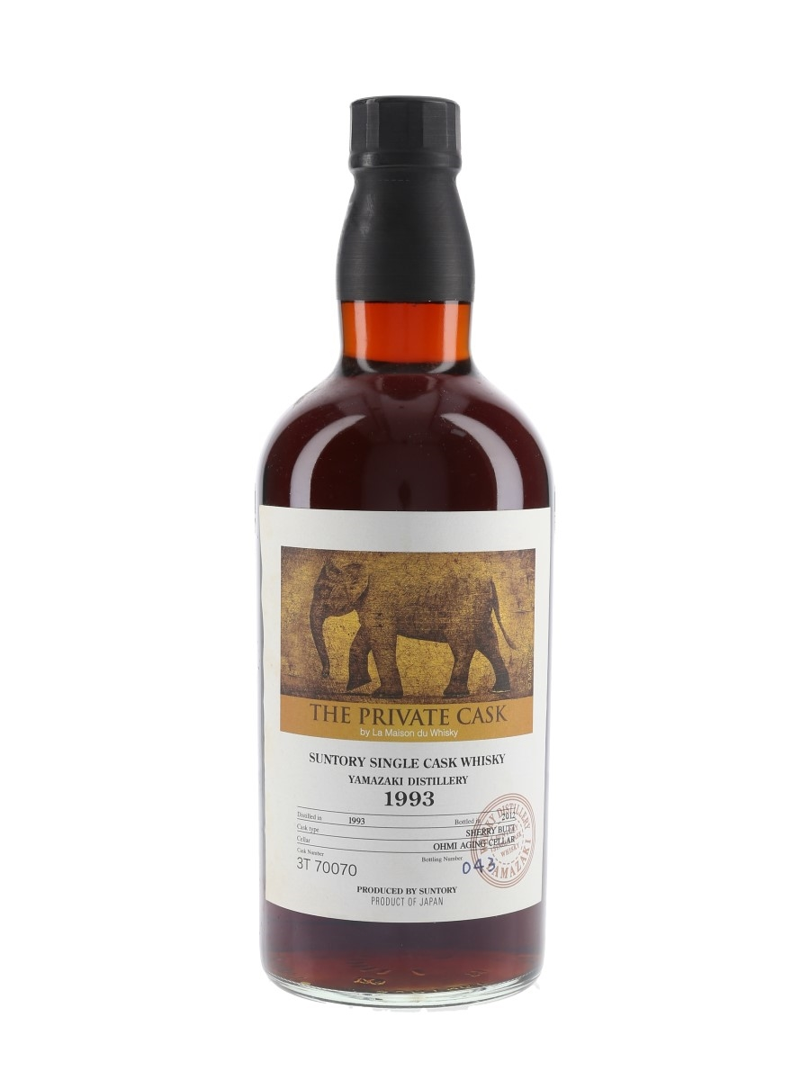 Yamazaki 1993 The Private Cask 3T70070 Bottled 2012 - La Maison du Whisky 70cl / 57.5%