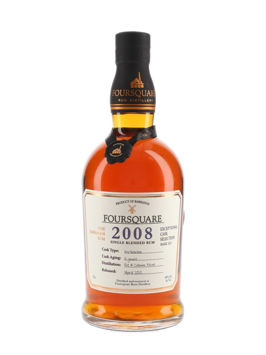 Foursquare 2008 12 Year Old Single Blended Rum Bottled 2020 - Exceptional Cask Selection Mark XIII 70cl / 60%