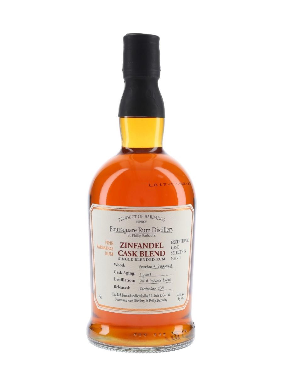 Foursquare 11 Year Old Zinfandel Cask Blend Released 2015 70cl / 43%