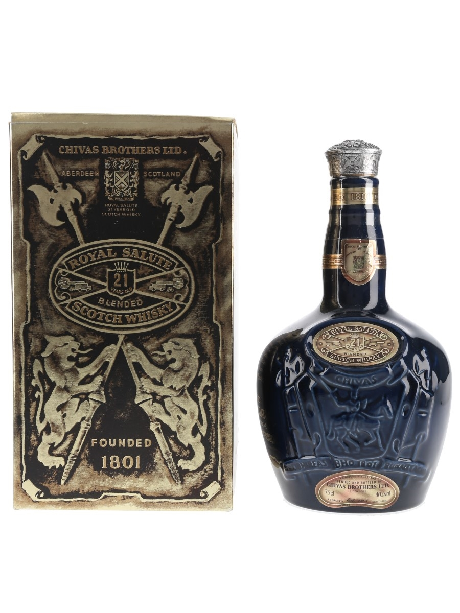 Royal Salute 21 Year Old Bottled 1980s - Wade Ceramic Decanter 75cl / 40%