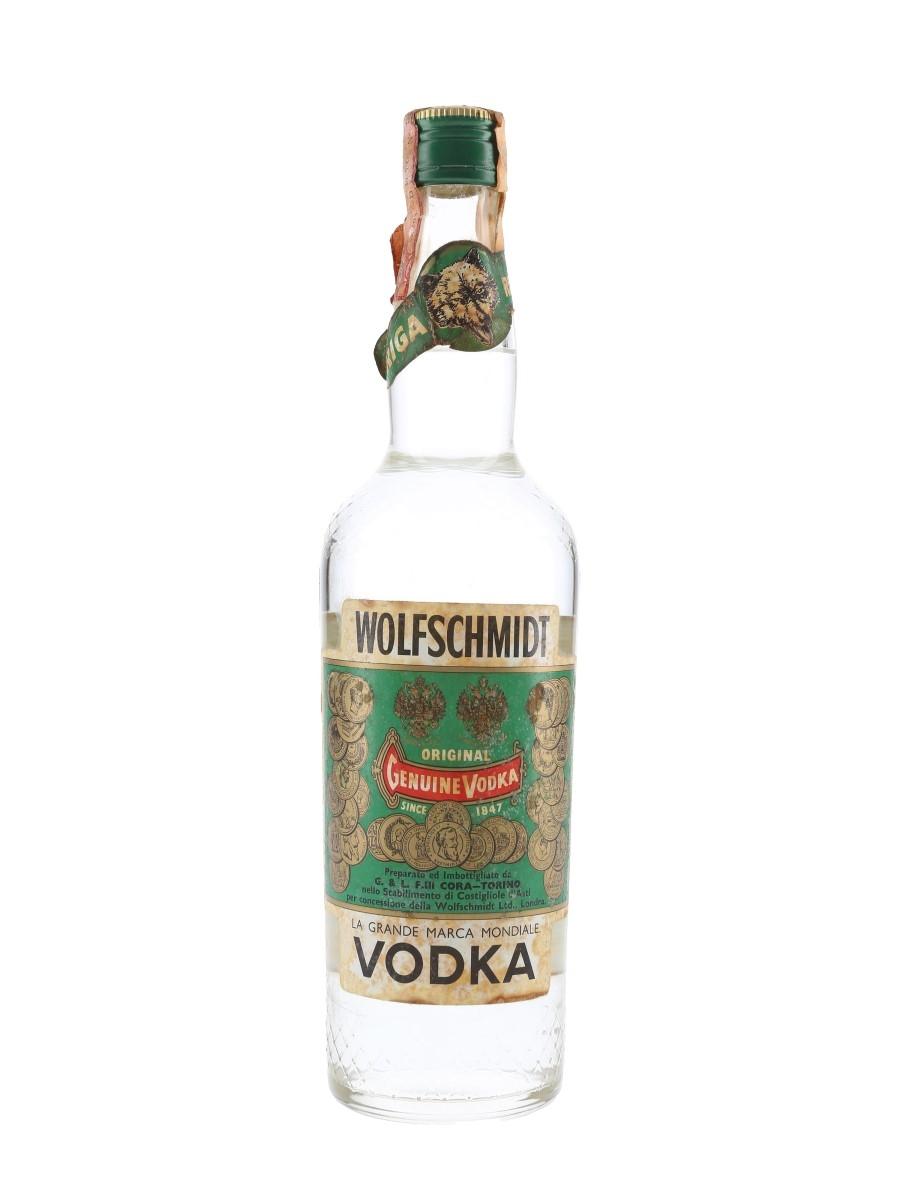 Wolfschmidt Vodka Bottled 1960s-1970s - Cora 75cl / 40%