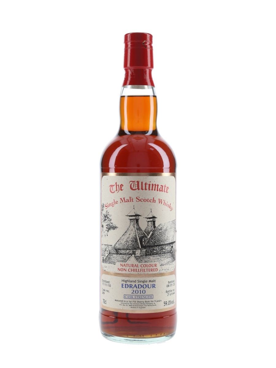 Edradour 2010 9 Year Old Cask 389 Bottled 2020 - The Ultimate Whisky Company 70cl / 59%