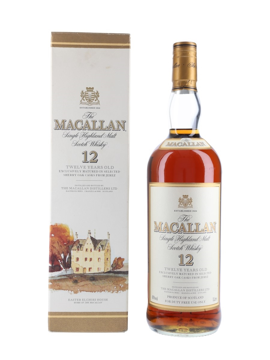 Macallan 12 Year Old Bottled 2000s - Duty Free 100cl / 43%