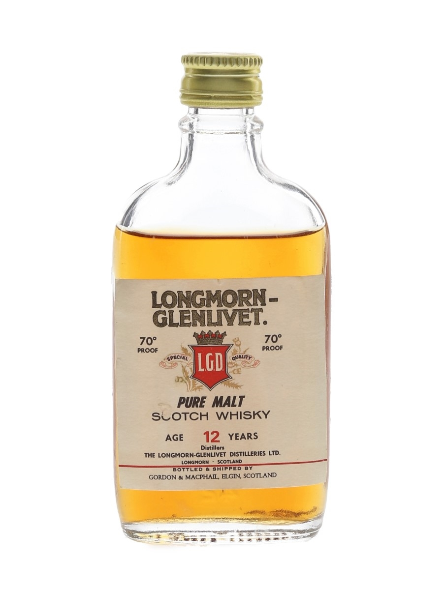 Longmorn Glenlivet 12 Year Old Bottled 1970s - Gordon & MacPhail 5cl / 40%