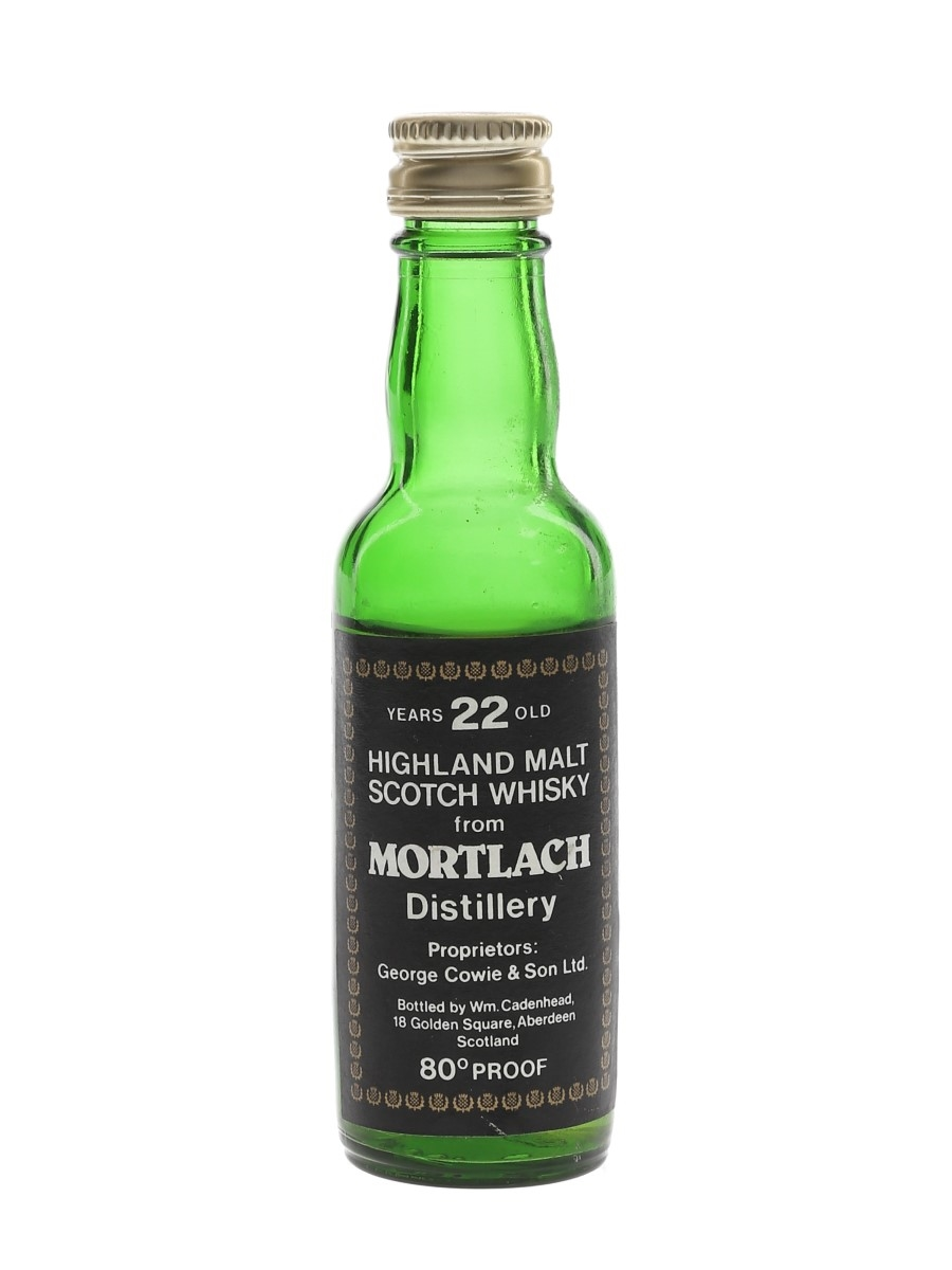 Mortlach 22 Year Old Bottled 1970s - Cadenhead's 5cl / 45.7%