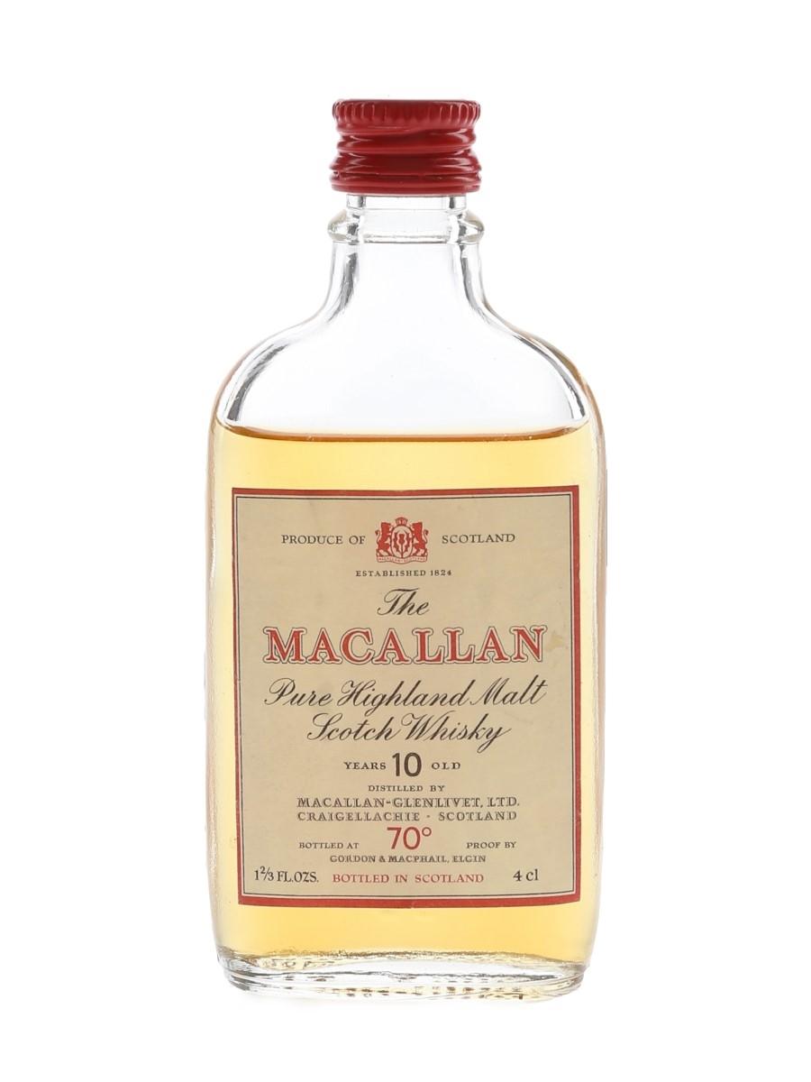 Macallan 10 Year Old Bottled 1970s - Gordon & MacPhail 4cl / 40%