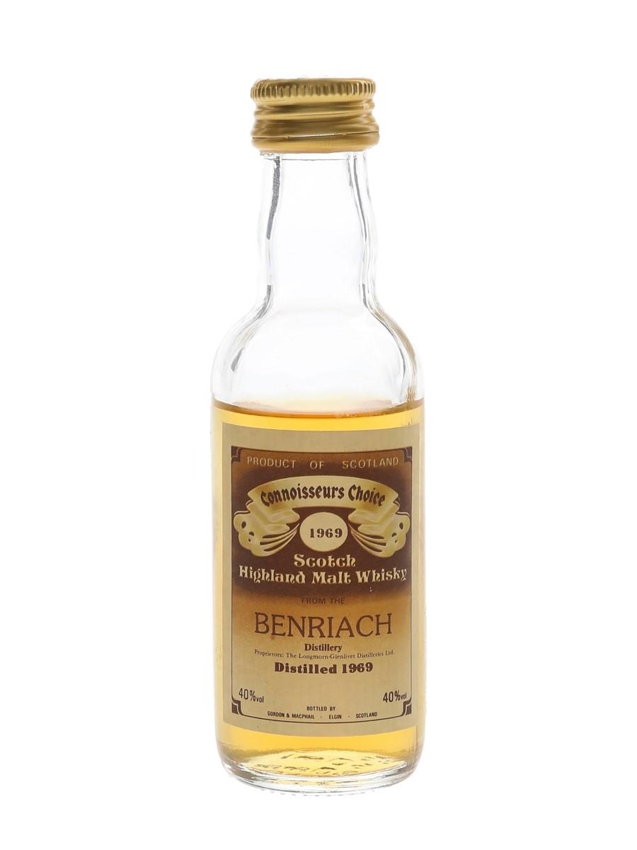 Benriach 1969 Connoisseurs Choice Bottled 1980s - Gordon & MacPhail 5cl / 40%