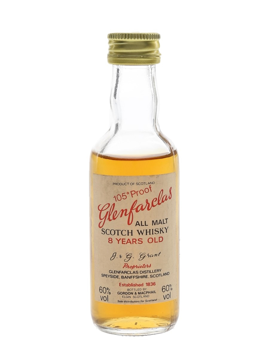 Glenfarclas 8 Year Old 105 Proof Bottled 1970s-1980s 5cl / 60%