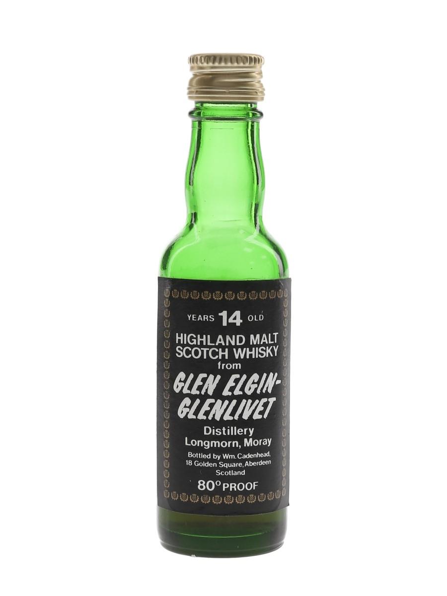 Glen Elgin Glenlivet 14 Year Old Bottled 1970s - Cadenhead's 5cl / 46%