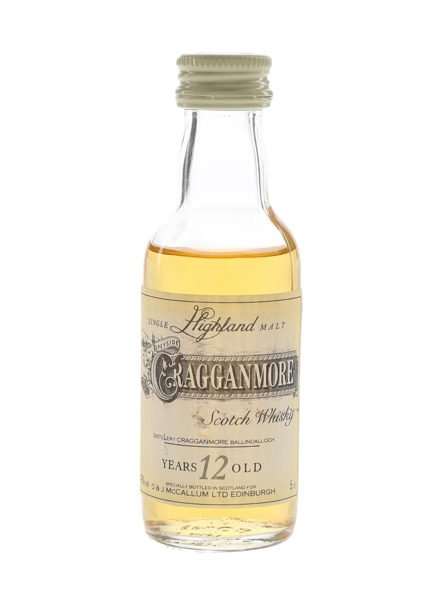Cragganmore 12 Year Old Bottled 1980s-1990s 5cl / 40%