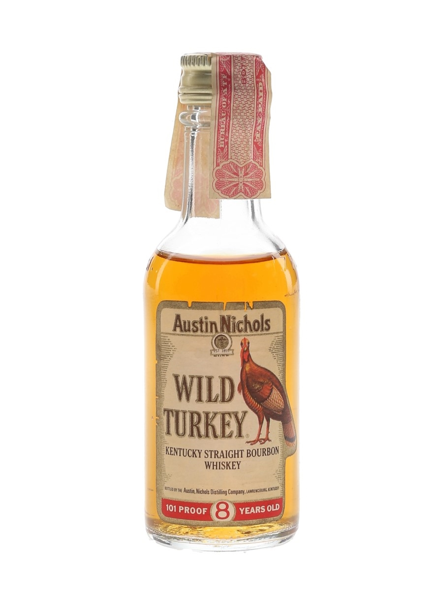 Wild Turkey 8 Year Old 101 Proof Bottled 1970s 5cl / 50.5%