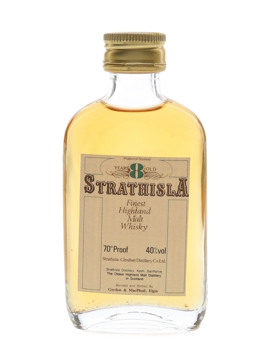 Strathisla 8 Year Old Bottled 1970s-1980s - Gordon & MacPhail 5cl / 40%