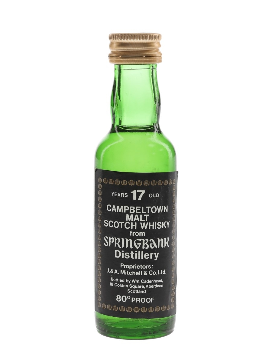 Springbank 17 Year Old Bottled 1970s - Cadenhead's 5cl / 46%