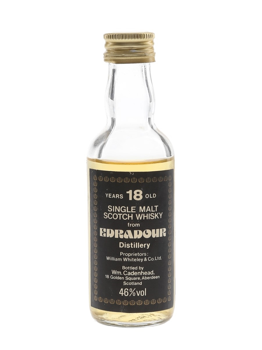 Edradour 18 Year Old Bottled 1980s - Cadenhead's 5cl / 46%