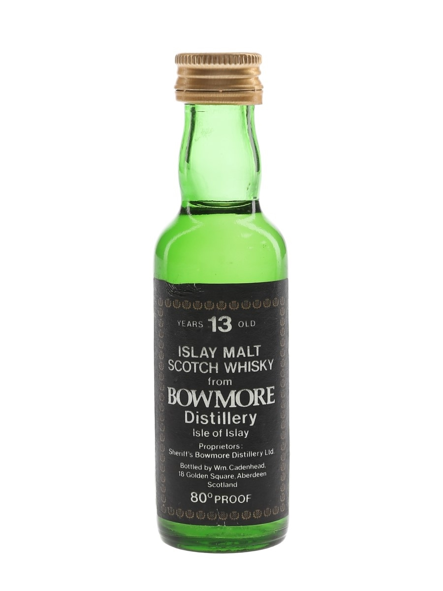 Bowmore 13 Year Old Bottled 1970s - Cadenhead's 5cl / 46%