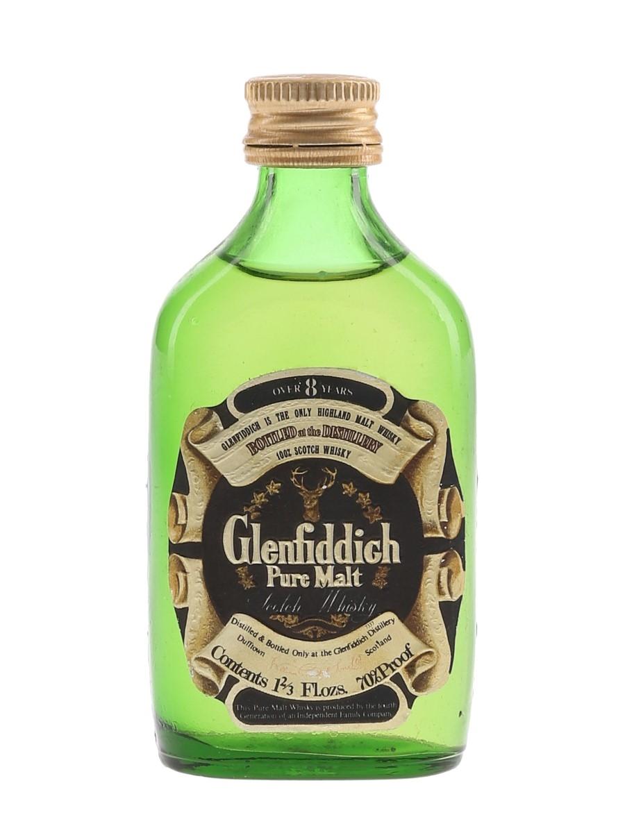 Glenfiddich 8 Year Old Pure Malt Bottled 1970s 4.7cl / 40%