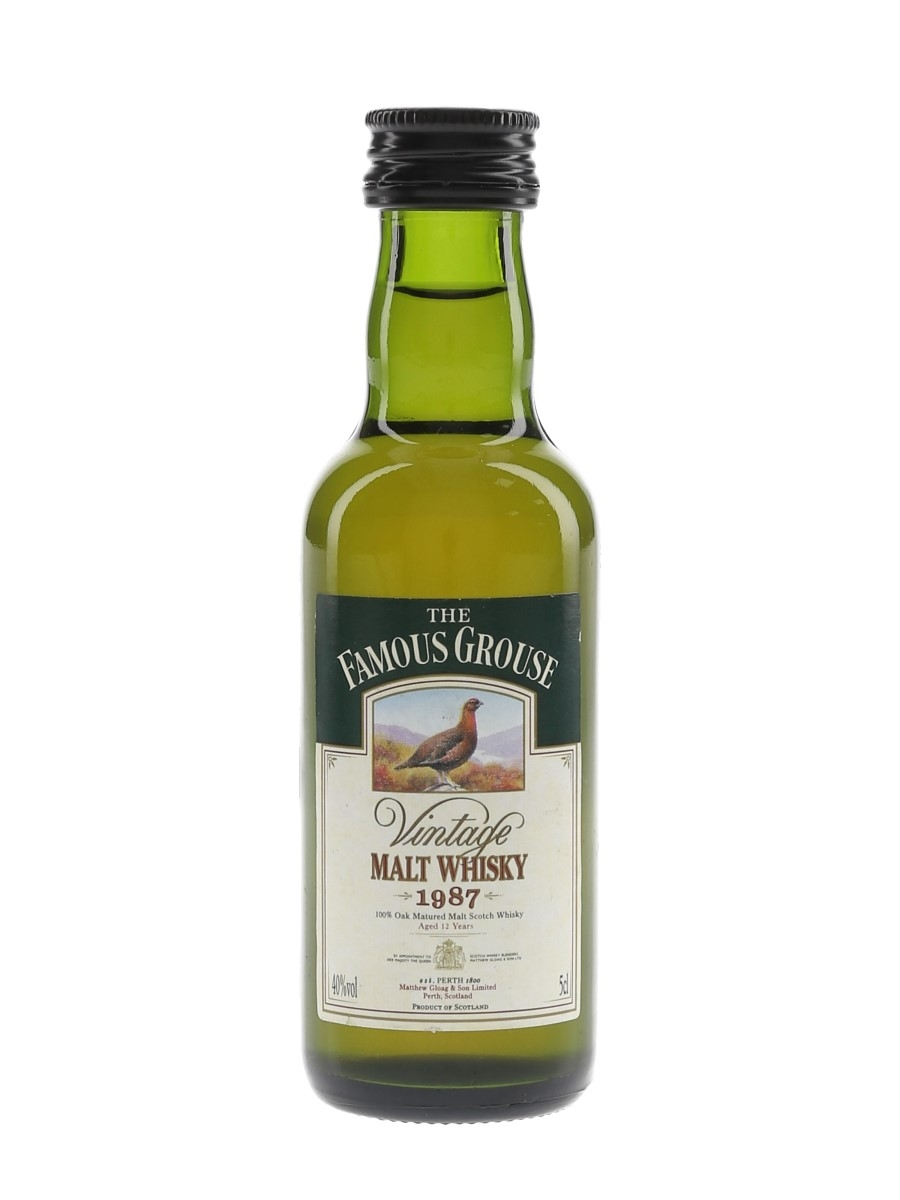 The Famous Grouse 1987 12 Year Old  5cl / 40%