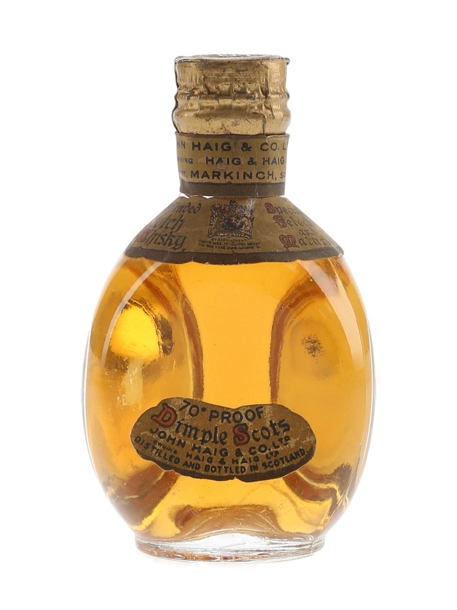 Haig's Dimple Spring Cap Bottled 1950s 5cl / 40%