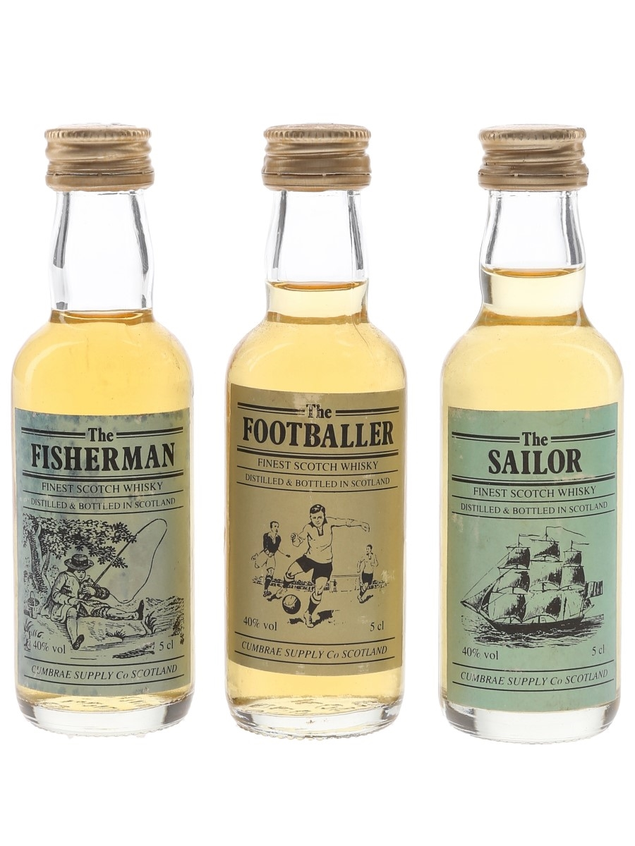 The Fisherman, Footballer & Sailor Cumbrae Supply Co 3 x 5cl / 40%