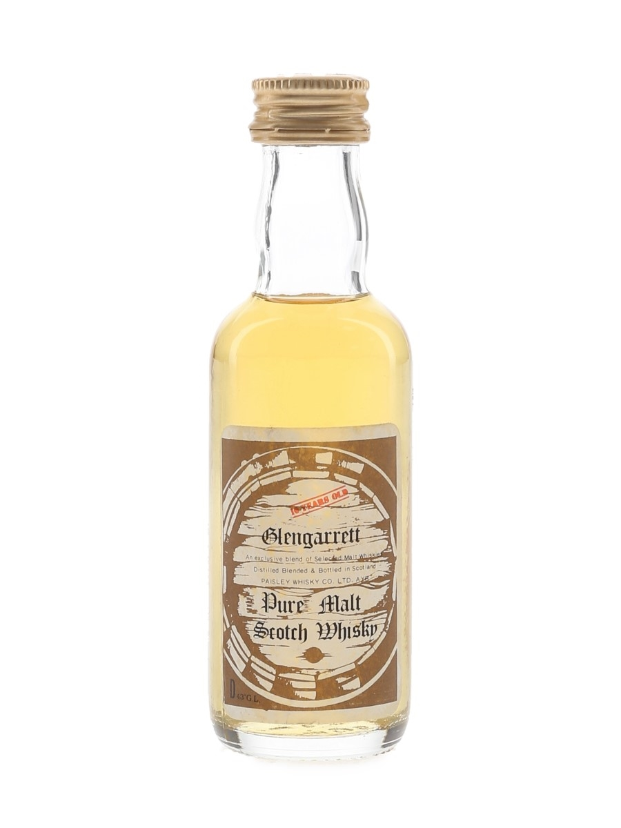 Glengarrett 10 Year Old Bottled 1970s 5cl / 43%