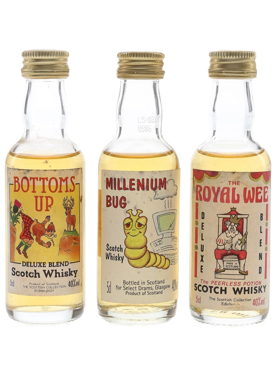 Scottish Collection Scotch Whisky Bottoms Up, Millennium Bug & Royal Wee 3 x 5cl / 40%