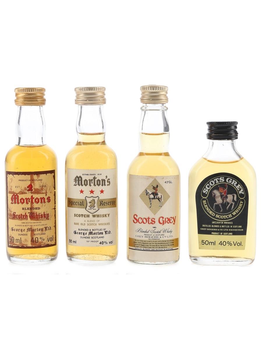 George Morton & Grey Rogers Blended Whisky Bottled 1980s 4 x 5cl