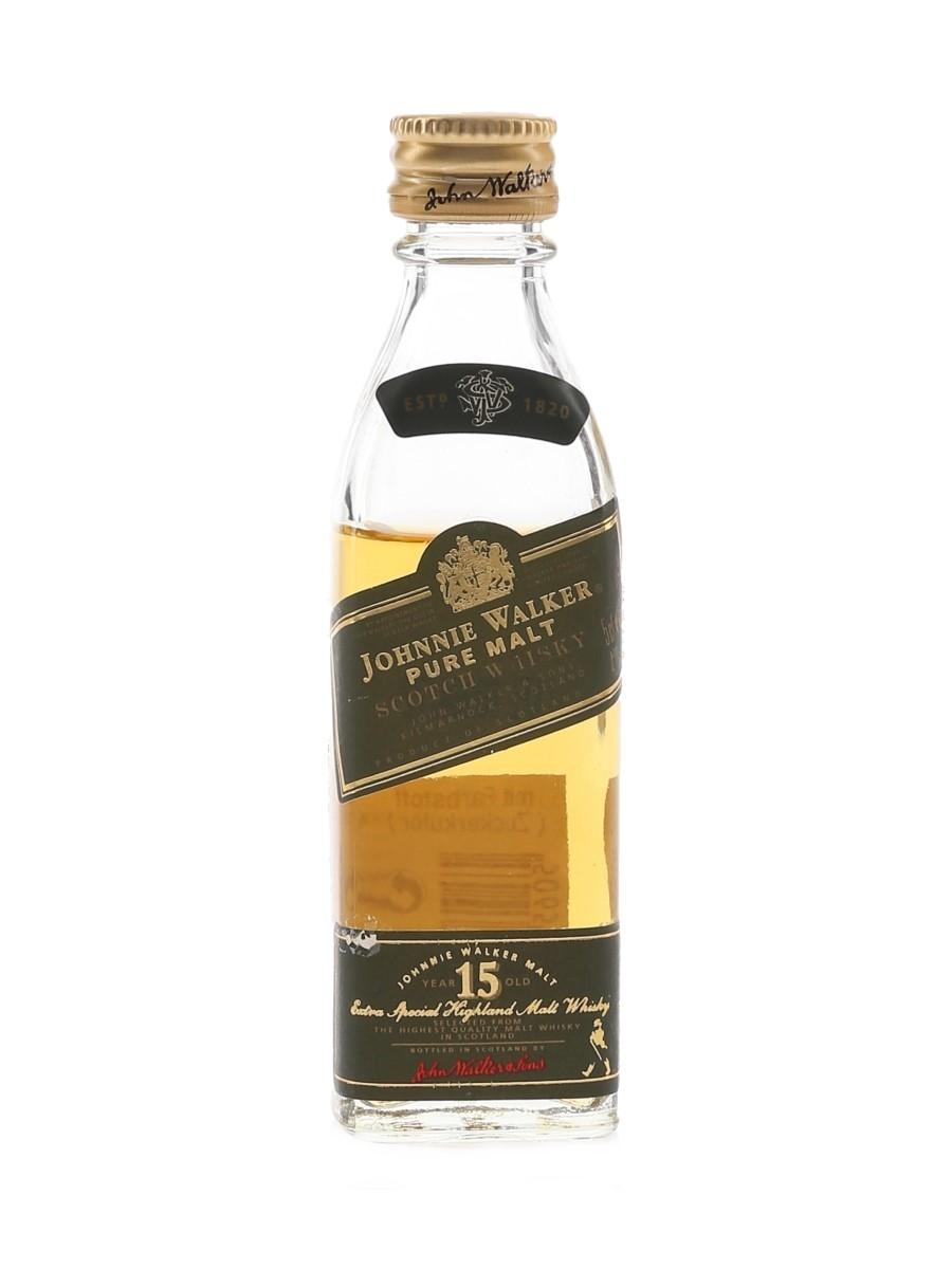 Johnnie Walker 15 Year Old Pure Malt Green Label Bottled 1990s 5cl / 43%