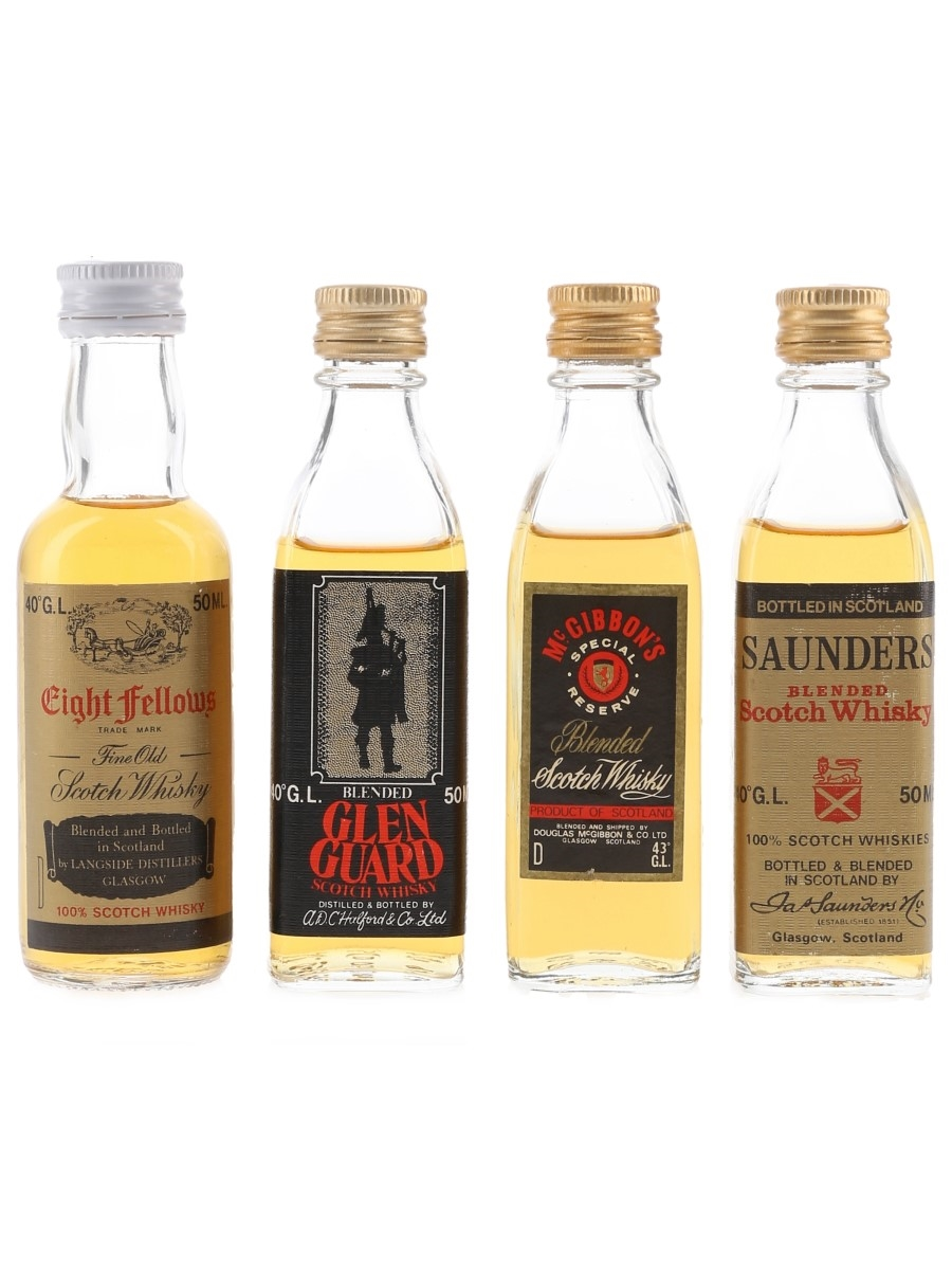 Assorted Blended Whisky Bottled 1980s 4 x 5cl