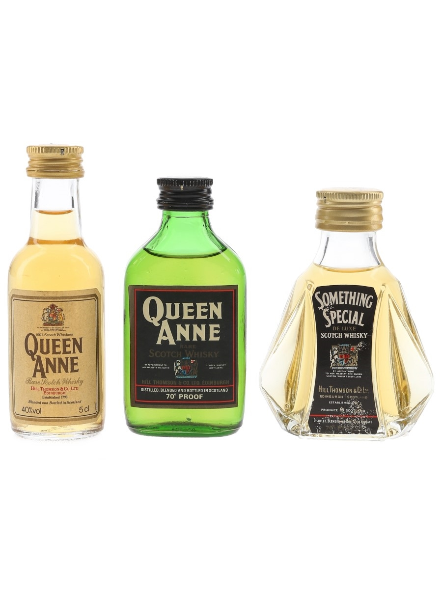 Queen Anne & Something Special Bottled 1970s & 1980s 3 x 5cl / 40%