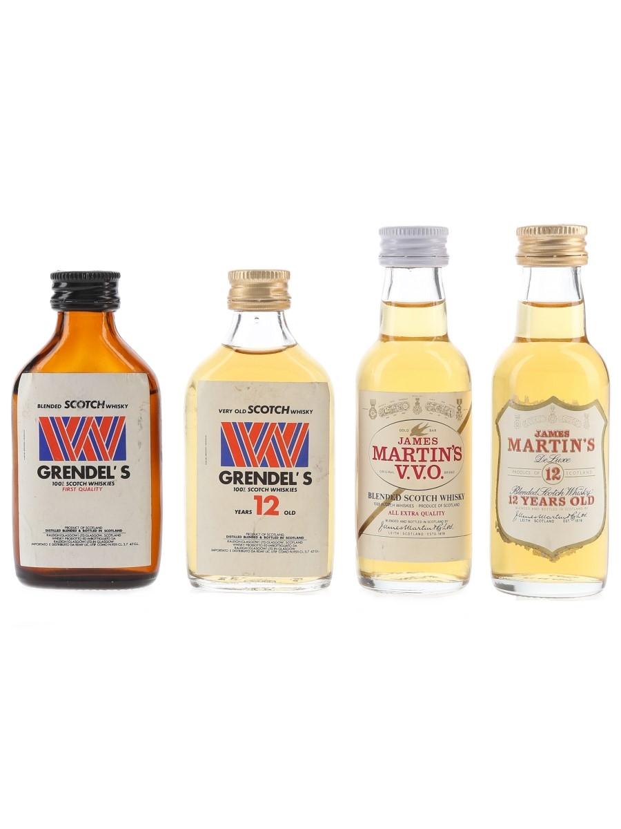 Grendel's & James Martin's Bottled 1980s 4 x 3.7cl-5cl