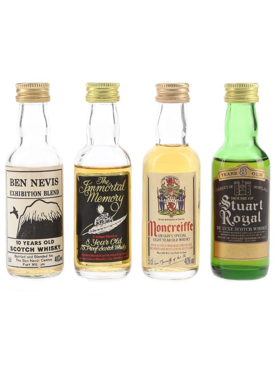 Ben Nevis, Immortal Memory, Moncreiffe & Stuart Royal Bottled 1970s-1980s 3 x 5cl
