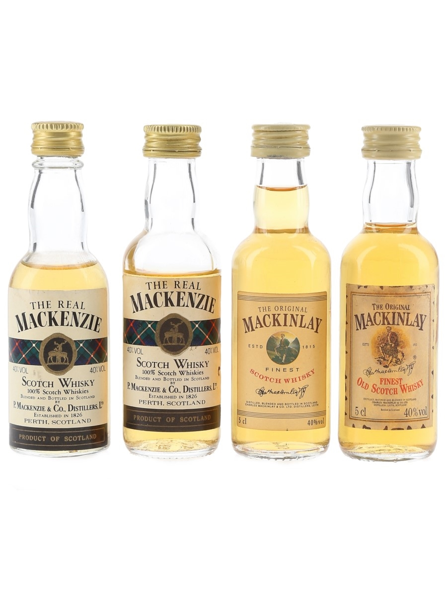 The Original Mackinlay & The Real Mackenzie  4 x 5cl / 40%