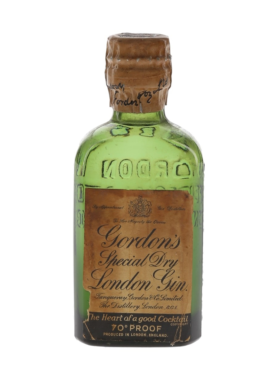 Gordon's Special Dry London Gin Spring Cap Bottled 1950s 5cl / 40%