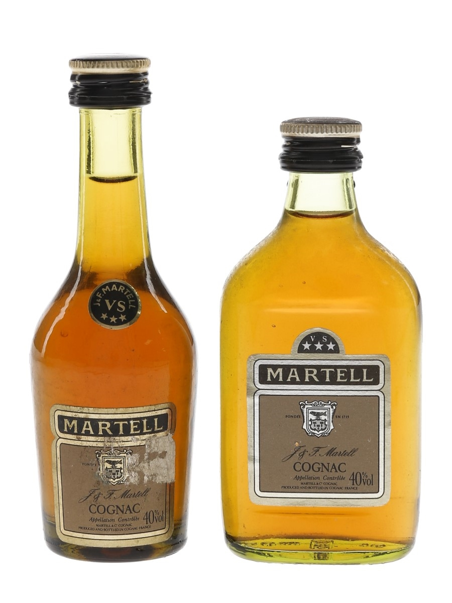 Martell 3 Star VS Bottled 1980s 2 x 5cl / 40%