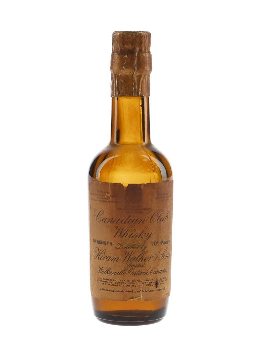 Hiram Walker Canadian Club Bottled 1930s-1940s 5cl / 40%