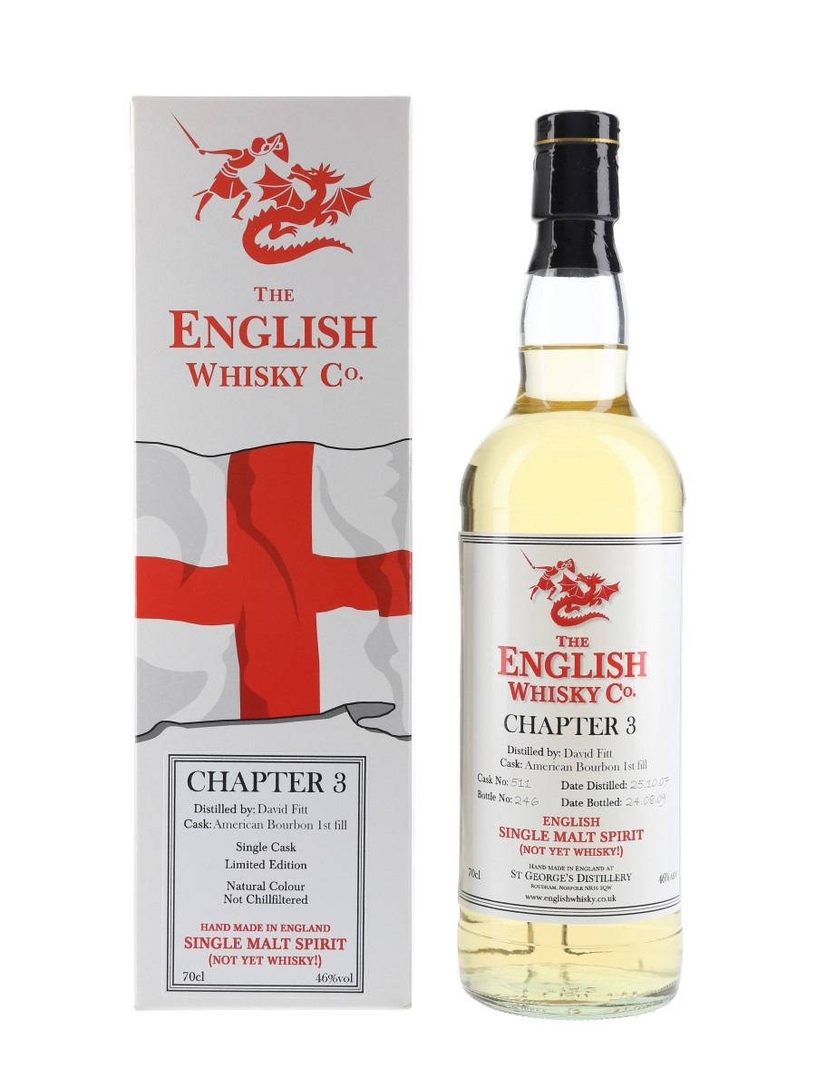 English Whisky Co. 2007 Chapter 3 Not Yet Whisky Bottled 2009 70cl / 46%