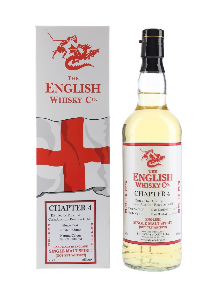 English Whisky Co. 2007 Peated Chapter 4 New Make Spirit 70cl / 46%