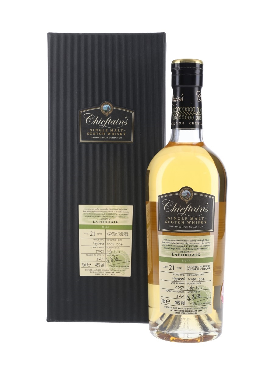 Laphroaig 1994 21 Year Old Bottled 2015 - Chieftain's Choice 70cl / 46%