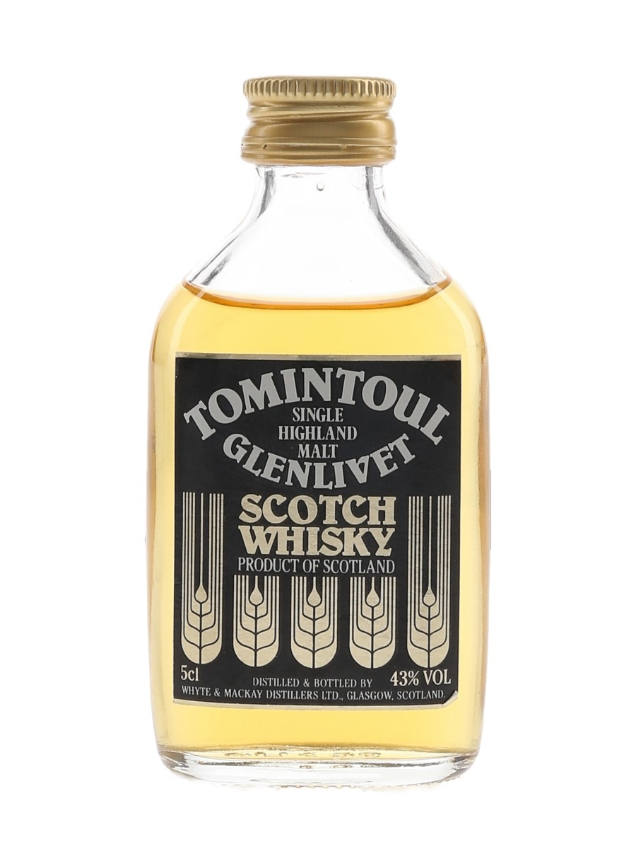 Tomintoul Glenlivet Bottled 1980s 5cl / 43%
