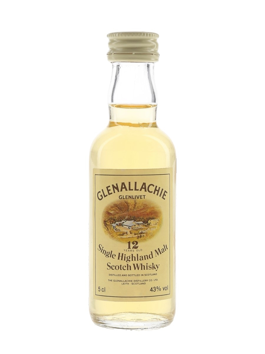 Glenallachie 12 Year Old Bottled 1980s 5cl / 43%