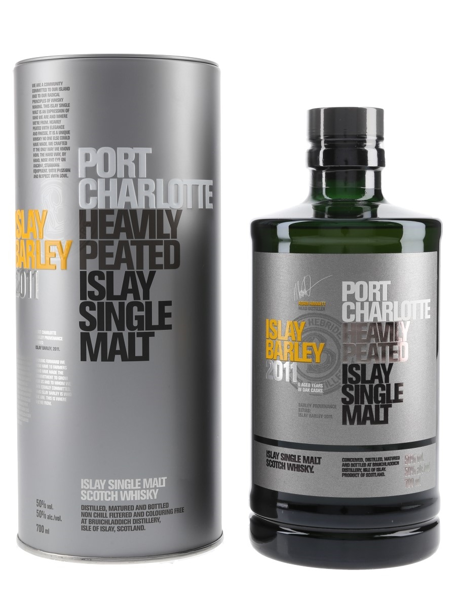 Port Charlotte 2011 6 Year Old Bottled 2018 - Bruichladdich 70cl / 50%