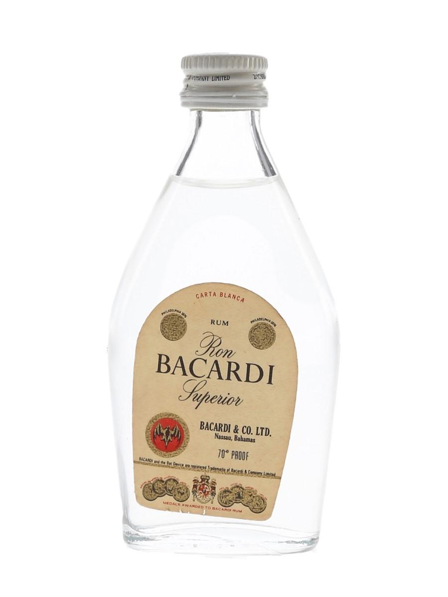 Bacardi Carta Blanca Bottled 1970s - Nassau, Bahamas 5cl / 40%