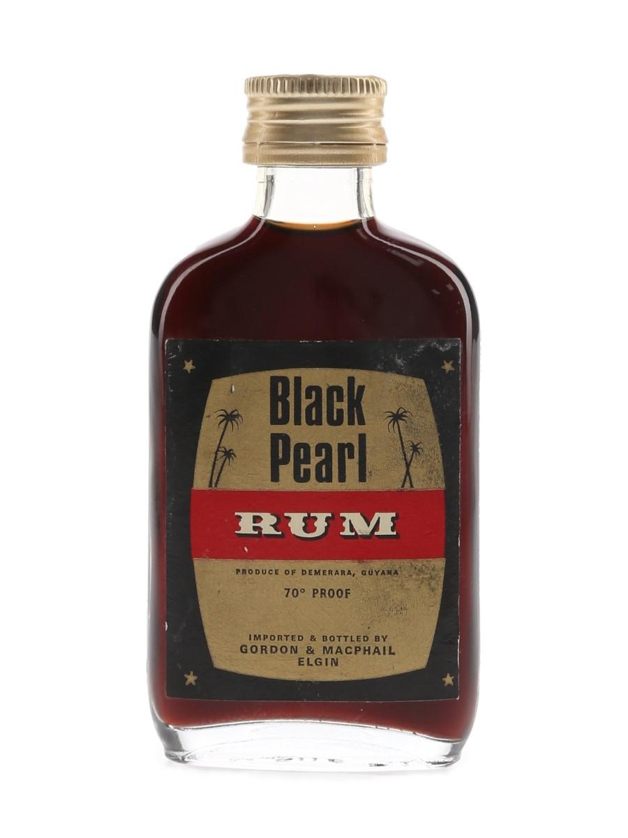 Black Pearl Demerara Rum Bottled 1970s - Gordon & MacPhail 5cl / 40%
