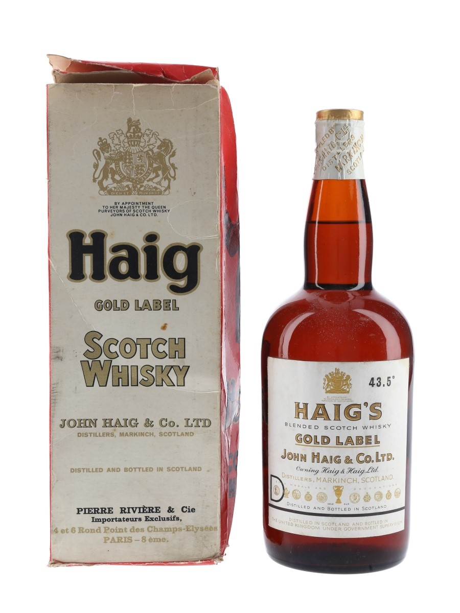 Haig Gold Label Spring Cap Bottled 1960s - Pierre Riviere 75cl / 43.5%