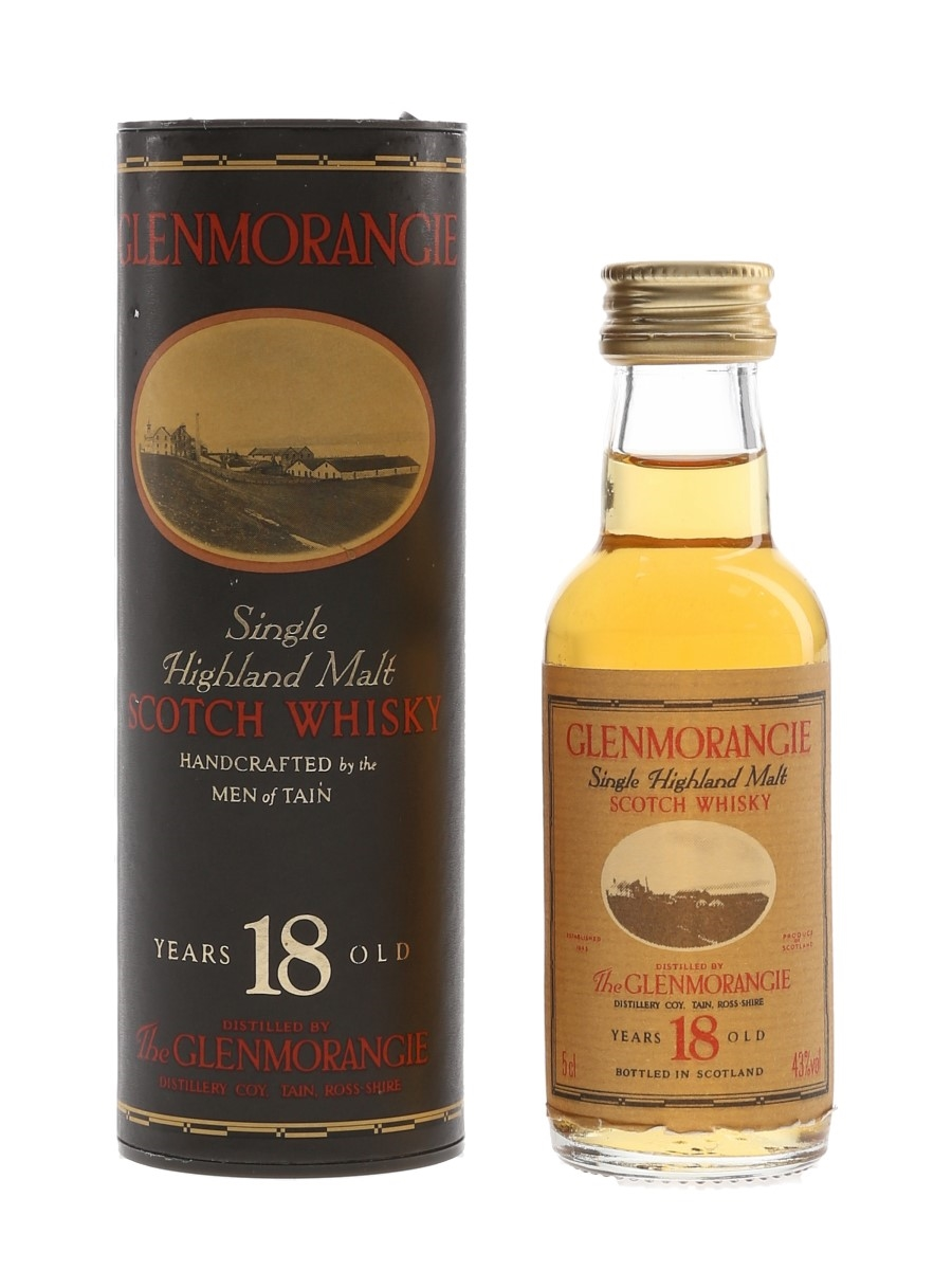 Glenmorangie 18 Year Old Bottled 1990s 5cl / 43%