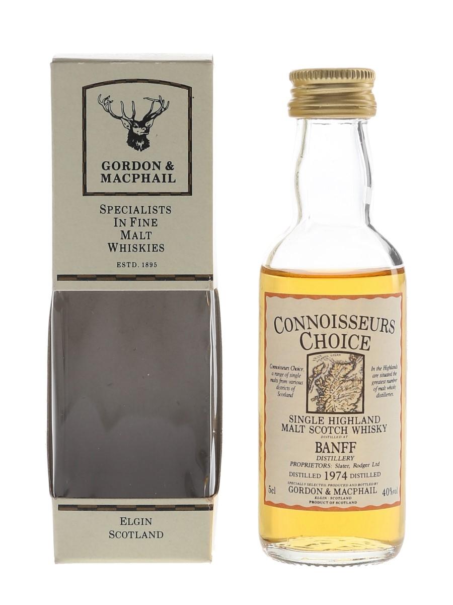 Banff 1974 Connoisseurs Choice Bottled 1980s - Gordon & MacPhail 5cl / 40%