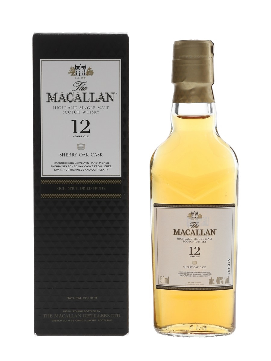 Macallan 12 Year Old Sherry Oak 5cl / 40%